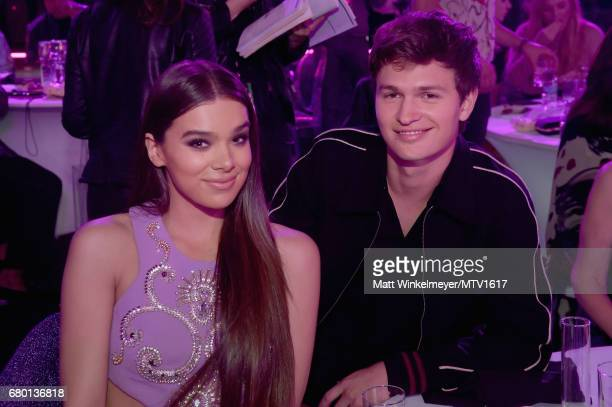Actors Hailee Steinfeld and Ansel Elgort attend the 2017 MTV Movie And TV Awards at The Shrine Auditorium on May 7 2017 in Los Angeles California