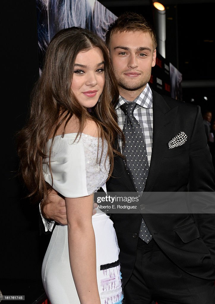 Actors Hailee Steinfeld and Douglas Booth arrive at the premiere of Relativity Media's 'Romeo & Juliet' at ArcLight Hollywood on September 24, 2013 in Hollywood, California.