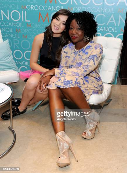 Actors Hailee Steinfeld and Muna Otaru attend the Variety Studio presented by Moroccanoil at Holt Renfrew during the 2014 Toronto International Film...