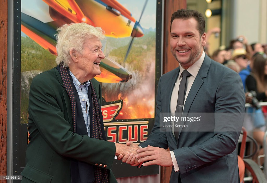 Actors Hal Holbrook (L) and Dane Cook attend the premiere of Disney's 'Planes: Fire & Rescue' at the El Capitan Theatre on July 15, 2014 in Hollywood, California.