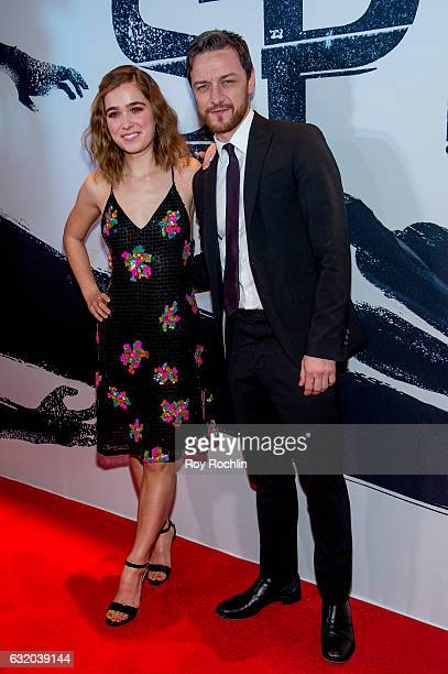 Actors Haley Lu Richardson and James McAvoy attend the 'Split' New York Premiere at SVA Theater on January 18 2017 in New York City