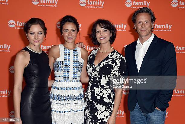 Actors Haley Ramm Italia Ricci Mary Page Keller and Steven Weber attend the Disney/ABC Television Group 2014 Television Critics Association Summer...