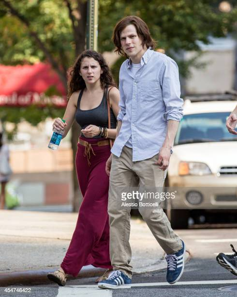 Actors Hallie Eisenberg and Jesse Eisenberg are seen in Manhattan on September 5 2014 in New York City
