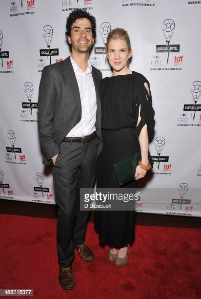 Actors Hamish Linklater and Lily Rabe attend the 29th Annual Lucille Lortel Awards at NYU Skirball Center on May 4 2014 in New York City
