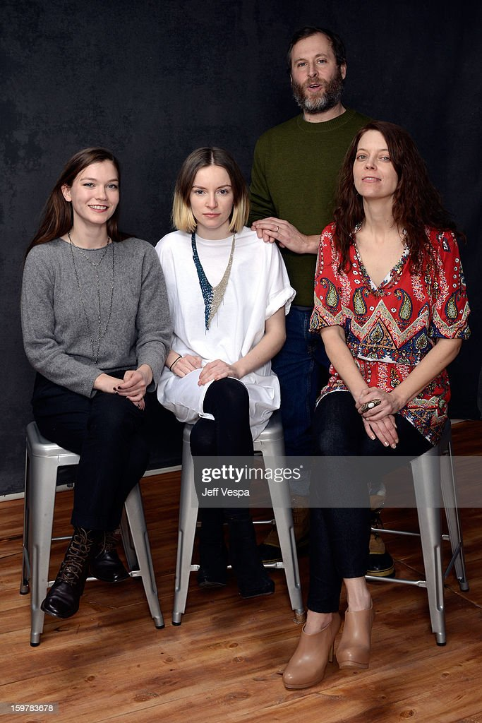 Actors Hannah Gross, Deragh Campbell, Ned Oldham, and Kim Taylor pose for a portrait during the 2013 Sundance Film Festival at the WireImage Portrait Studio at Village At The Lift on January 20, 2013 in Park City, Utah.