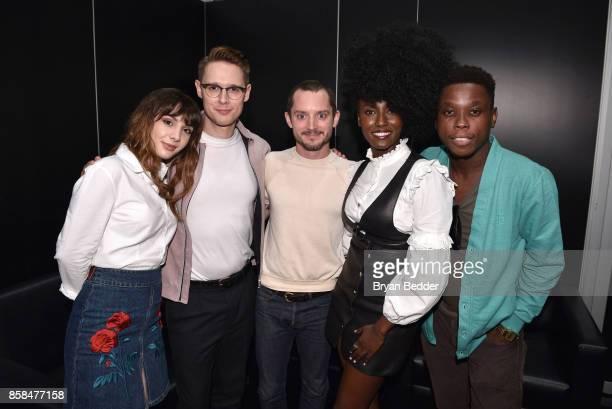 Actors Hannah Marks Sam Barnett Elijah Wood Jade Eshete and Mpho Koaho attend the FANDOM Fest during New York Comic Con on October 6 2017 in New York...
