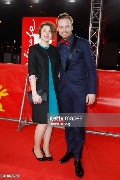 Actors Hannah Steele and Stefan Konarske attend the 'The Young Karl Marx' premiere during the 67th Berlinale International Film Festival Berlin at...
