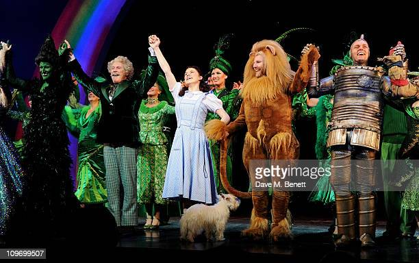 Actors Hannah Waddingham Michael Crawford Danielle Hope David Ganly and Edward BakerDuly bow during press night of Andrew Lloyd Webber's new West End...