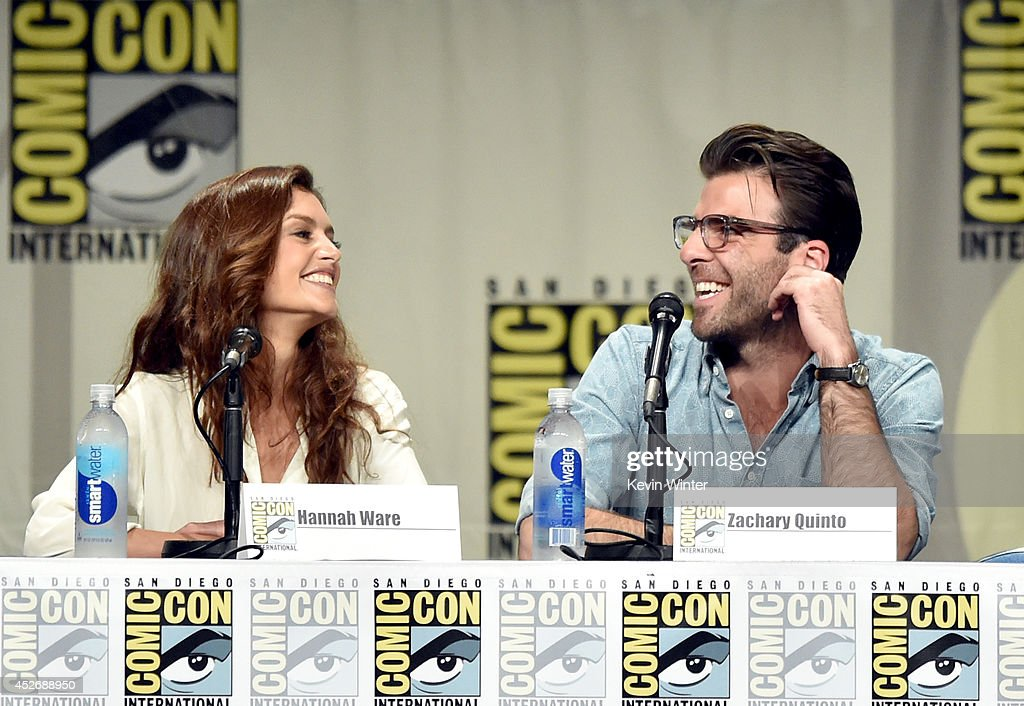 Actors Hannah Ware and Zachary Quinto attend the 20th Century Fox presentation during Comic-Con International 2014 at San Diego Convention Center on July 25, 2014 in San Diego, California.