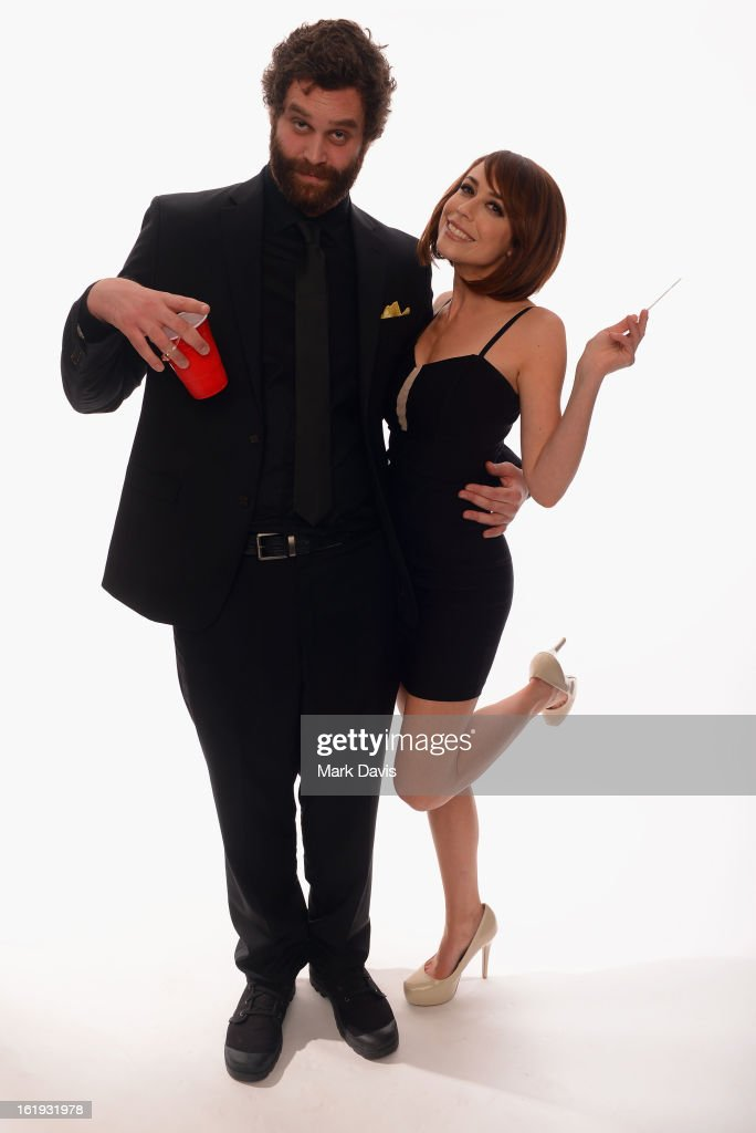 Actors Harley Morenstein and Shira Lazar pose for a portrait in the TV Guide Portrait Studio at the 3rd Annual Streamy Awards at Hollywood Palladium on February 17, 2013 in Hollywood, California.