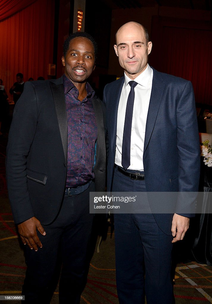 Actors <a gi-track='captionPersonalityLinkClicked' href=/galleries/search?phrase=Harold+Perrineau&family=editorial&specificpeople=581188 ng-click='$event.stopPropagation()'>Harold Perrineau</a> (L) and <a gi-track='captionPersonalityLinkClicked' href=/galleries/search?phrase=Mark+Strong&family=editorial&specificpeople=750895 ng-click='$event.stopPropagation()'>Mark Strong</a> attend the 'Zero Dark Thirty' Los Angeles Premiere- After Party at Dolby Theatre on December 10, 2012 in Hollywood, California.