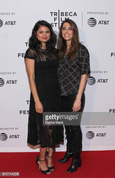 Actors Haroula Rose and Melonie Diaz attend Tribeca TV Pilot Season 'Lost and Found' showing during the 2017 Tribeca Film Festival at Cinepolis...