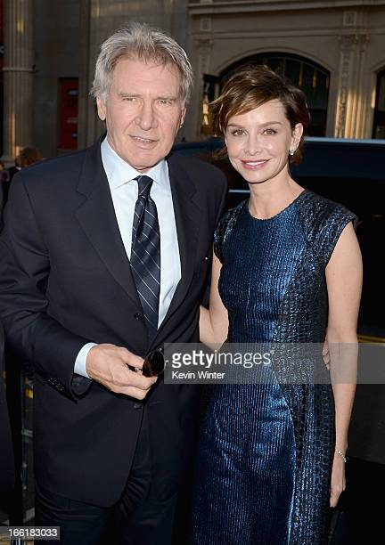 Actors Harrison Ford and Calista Flockhart attend the Los Angeles Premiere of Warner Bros Pictures' and Legendary Pictures' '42' at TCL Chinese...