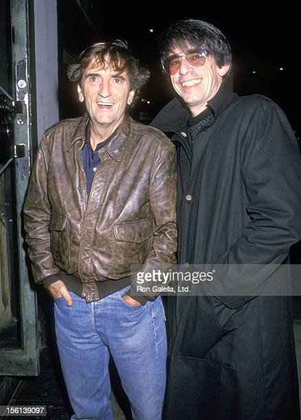 Actors Harry Dean Stanton and Richard Belzer attend the 'Full Moon in Blue Water' Premiere Party on November 2 1988 at Sfuzzi's Restaurant in New...