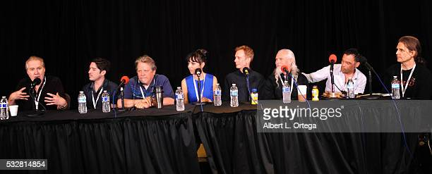 Actors Harry Groener Andrew Ferchland Keith SzarabajkaJuliet Landau Doug Jones Camden Toy Rudolf Martin and moderator Devrill Weeks at the 2016...