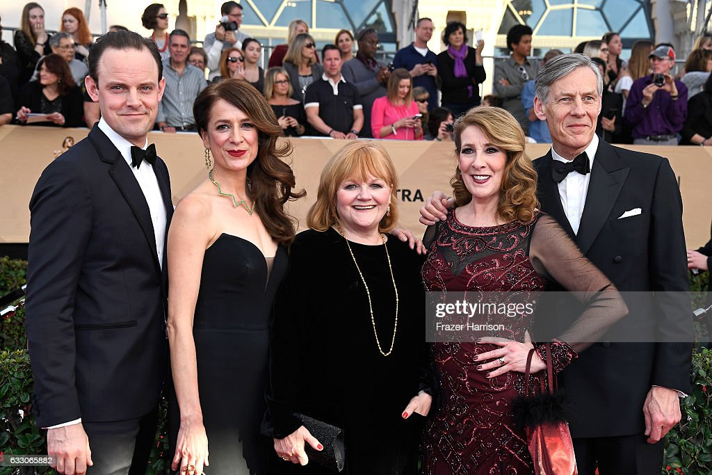 Actors Harry Hadden-Paton, Raquel Cassidy, Lesley Nicol, Phyllis Logan, and Douglas Reith attend The 23rd Annual Screen Actors Guild Awards at The Shrine Auditorium on January 29, 2017 in Los Angeles, California. 26592_008