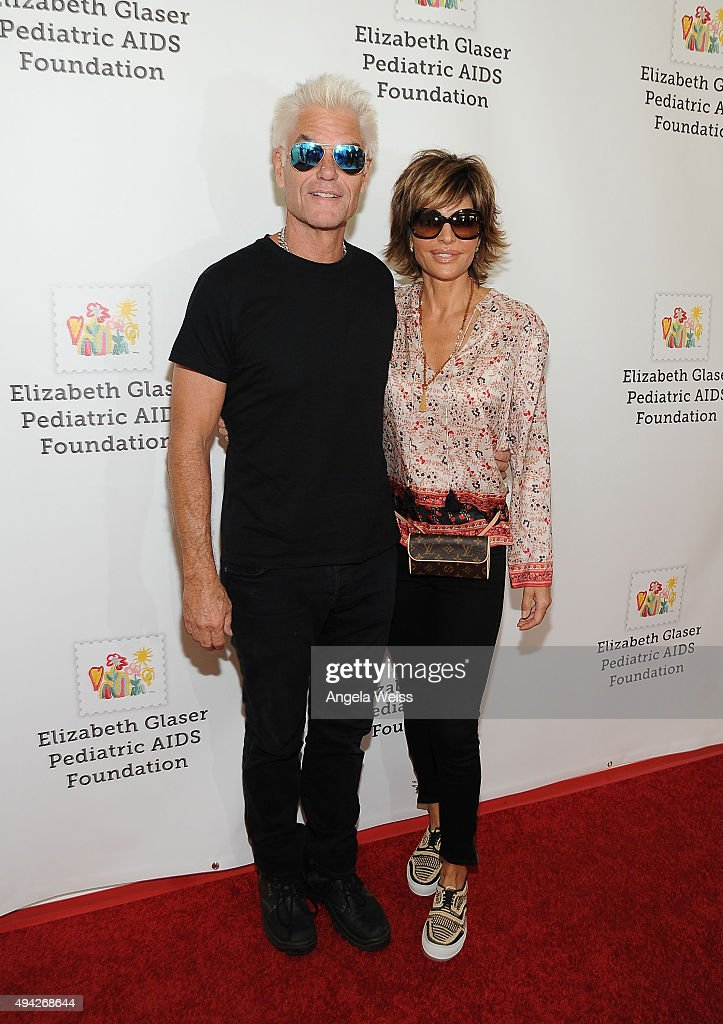 Actors Harry Hamlin and Lisa Rinna attend the Elizabeth Glaser Pediatric AIDS Foundation's 26th Annual A Time For Heroes Family Festival at Smashbox...