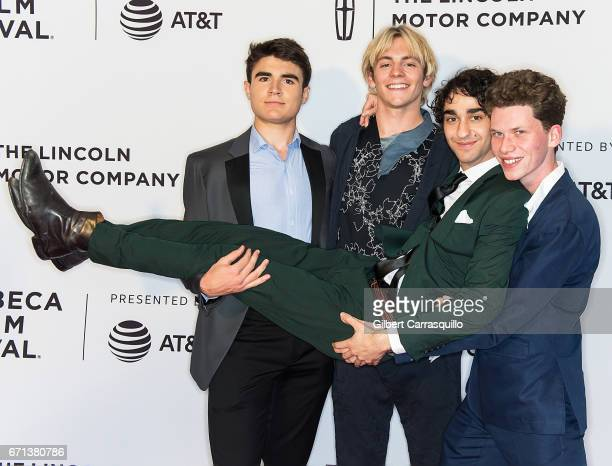Actors Harry Holzer Ross Lynch Alex Wolff and Tommy Nelson attend the 'My Friend Dahmer' Premiere during 2017 Tribeca Film Festival at Cinepolis...