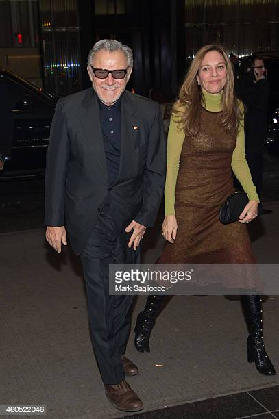 Actors Harvey Keitel and Daphna Kastner attend the 'Big Eyes' New York Premiere at the Museum of Modern Art on December 15 2014 in New York City