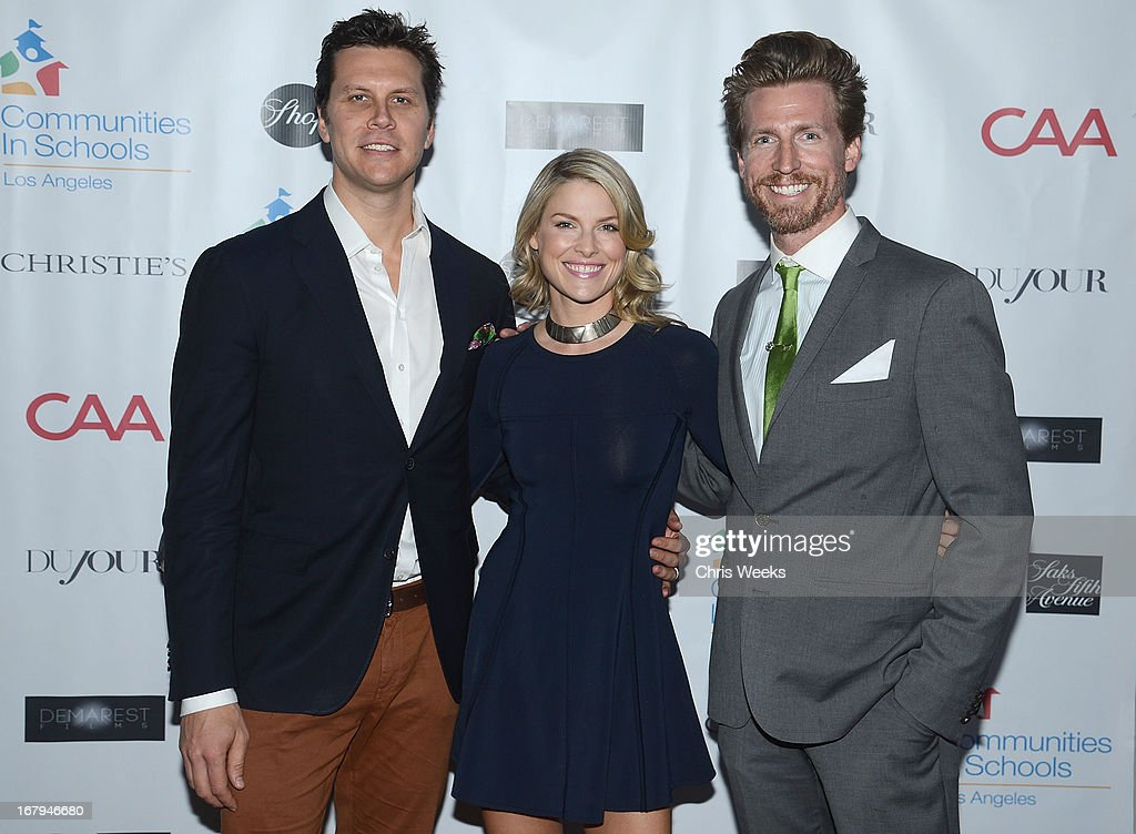Actors <a gi-track='captionPersonalityLinkClicked' href=/galleries/search?phrase=Hayes+MacArthur&family=editorial&specificpeople=2465134 ng-click='$event.stopPropagation()'>Hayes MacArthur</a>, <a gi-track='captionPersonalityLinkClicked' href=/galleries/search?phrase=Ali+Larter&family=editorial&specificpeople=208082 ng-click='$event.stopPropagation()'>Ali Larter</a> and <a gi-track='captionPersonalityLinkClicked' href=/galleries/search?phrase=Josh+Meyers+-+Actor&family=editorial&specificpeople=12906216 ng-click='$event.stopPropagation()'>Josh Meyers</a> attends the Communities In Schools 'School Life' Gala at a Private Residence on May 2, 2013 in Beverly Hills, California.