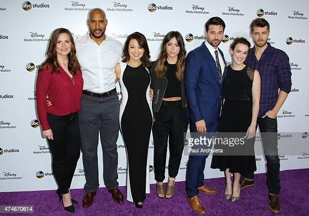 Actors Hayley Atwell Henry Simmons MingNa Wen Chloe Bennett Brett Dalton Elizabeth Henstridge and Luke Mitchell attend the Disney Media Distribution...