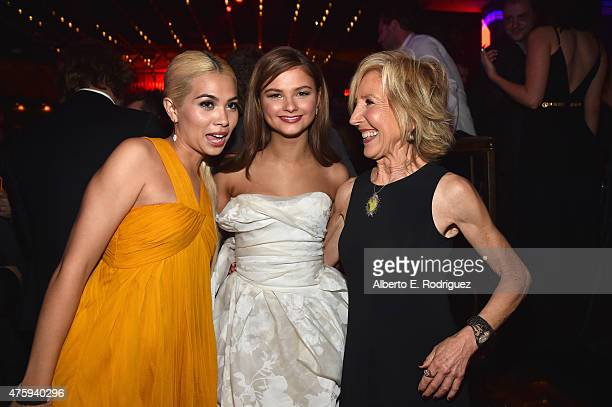 Actors Hayley Kiyoko Stefanie Scott and Lin Shaye attend the after party for the premiere of Focus Features' 'Insidious Chapter 3' at the Emerson...