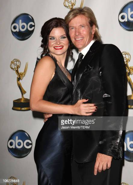 Actors Heather Tom and Jack Wagner in the press room at The 35th Annual Daytime Emmy Awards at the Kodak Theatre on June 20 2008 in Los Angeles...