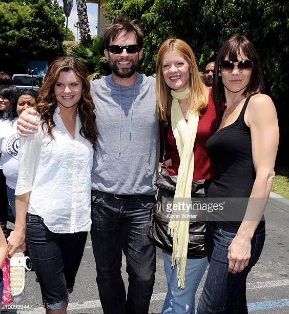Actors Heather Tom Michael Muhney Michelle Stafford and Stacy Haiduk pose at the 37th Annual Daytime Emmy Awards' 'Daytime Gives Back' at the...