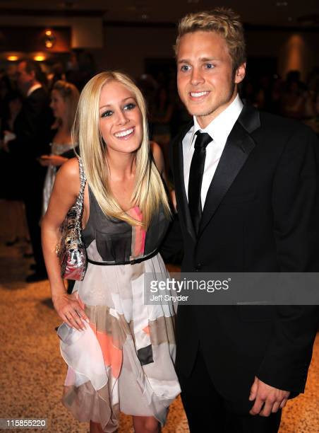 Actors Heidi Montag and Spencer Pratt arrive at the White House Correspondents' Association Washington Hilton Hotel April 26 2008 in Washington DC...