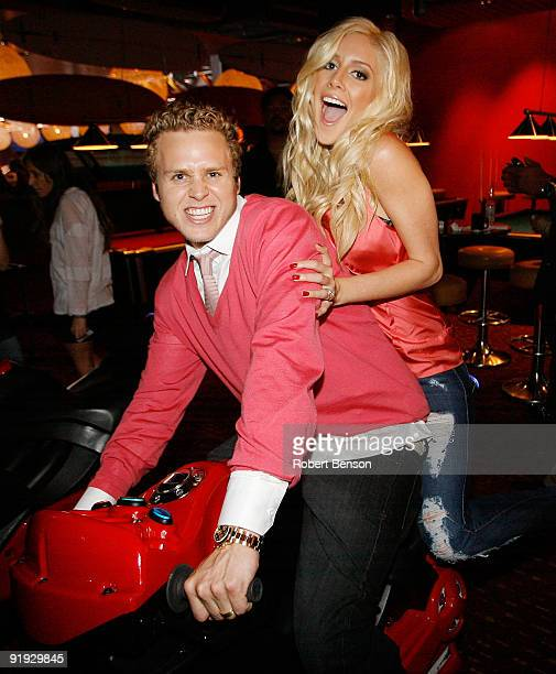 Actors Heidi Montag and Spencer Pratt attend the STRIKE OC Fall Celebration at Strike Orange County on October 15 2009 in Tustin California