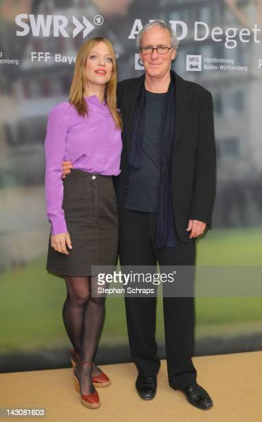 Actors Heike Makatsch and August Zirner attend the premiere of 'Die Heimkehr' at Astor Film Lounge movie theater Kurfuerstendamm on April 18 2012 in...