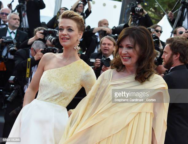 Actors Heike Makatsch and Iris Berben attend 'The Meyerowitz Stories' premiere during the 70th annual Cannes Film Festival at Palais des Festivals on...