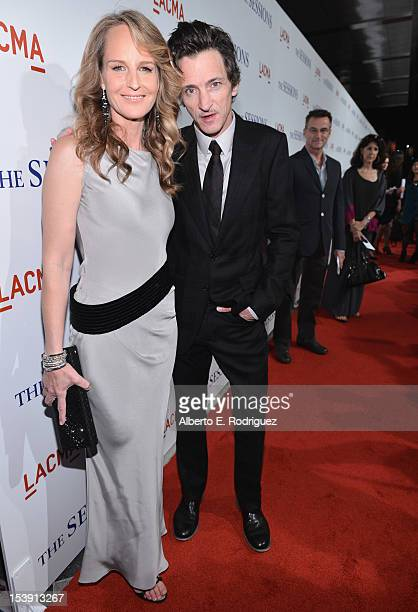 Actors Helen Hunt and John Hawkes arrive to the Los Angeles premiere of Fox Searchlight Pictures' 'The Sessions' held at the Bing Theatre at LACMA on...