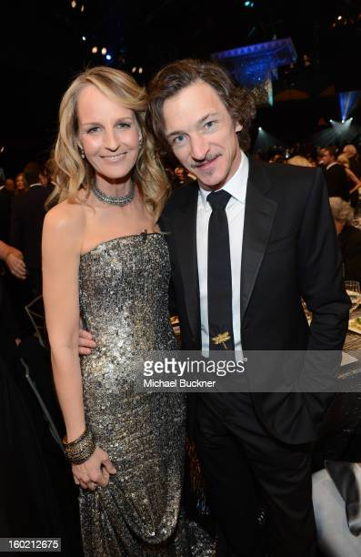 Actors Helen Hunt and John Hawkes attend the 19th Annual Screen Actors Guild Awards at The Shrine Auditorium on January 27 2013 in Los Angeles...