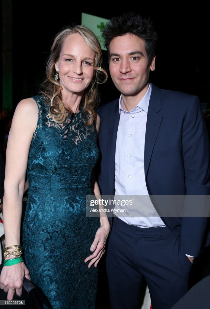 Actors Helen Hunt and Josh Radnor attend Global Green USA's 10th Annual PreOscar Party at Avalon on February 20 2013 in Hollywood California
