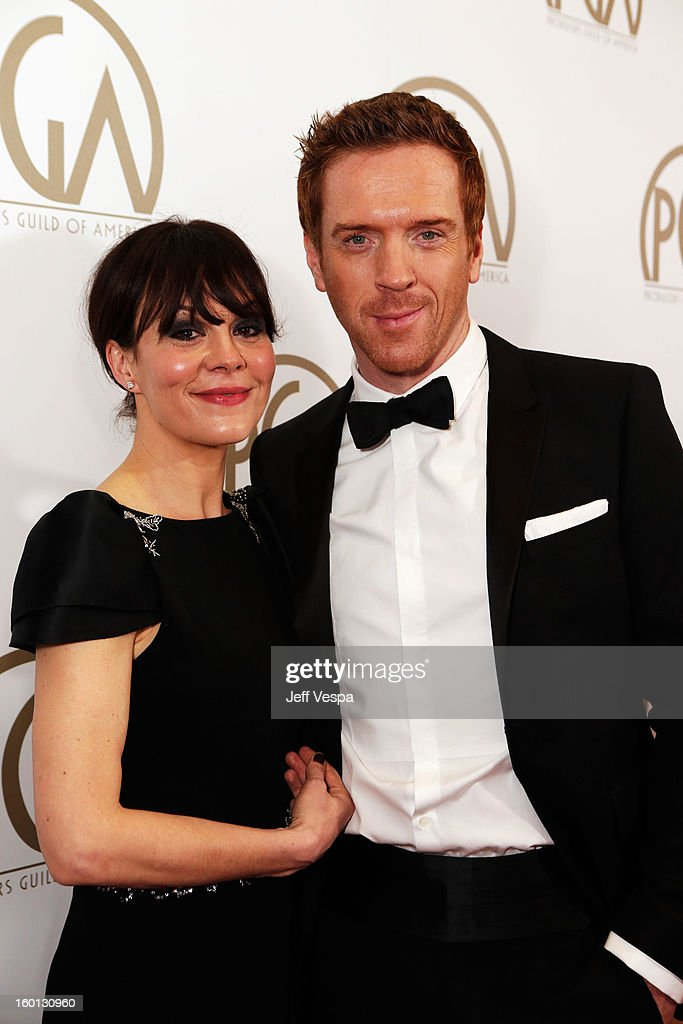Actors Helen McCrory and Damian Lewis arrive at the 24th Annual Producers Guild Awards held at The Beverly Hilton Hotel on January 26, 2013 in Beverly Hills, California.
