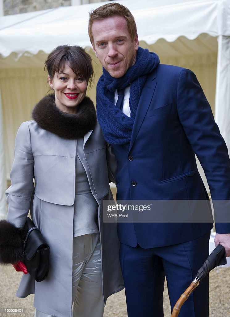 Actors <a gi-track='captionPersonalityLinkClicked' href=/galleries/search?phrase=Helen+McCrory&family=editorial&specificpeople=214616 ng-click='$event.stopPropagation()'>Helen McCrory</a> and <a gi-track='captionPersonalityLinkClicked' href=/galleries/search?phrase=Damian+Lewis&family=editorial&specificpeople=206939 ng-click='$event.stopPropagation()'>Damian Lewis</a> arrive for a reception for the British Film Industry held by Queen Elizabeth and Prince Philip at Windsor Castle on April 4, 2013 in Berkshire, England.