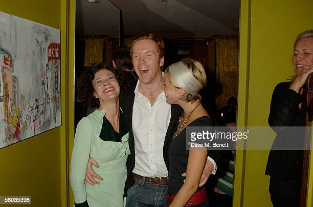 Actors Helen McCrory Damian Lewis and Sienna Miller attend the after party of screening of 'Keane' that is part of The 49th Times BFI London Film...
