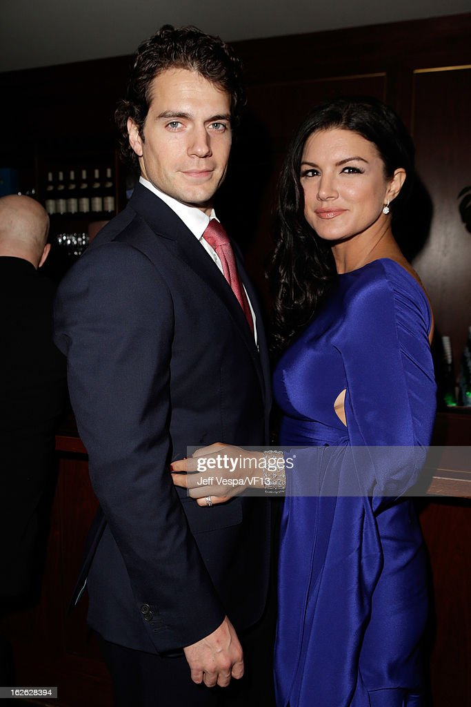 Actors Henry Cavill and Gina Carano attend the 2013 Vanity Fair Oscar Party hosted by Graydon Carter at Sunset Tower on February 24 2013 in West...