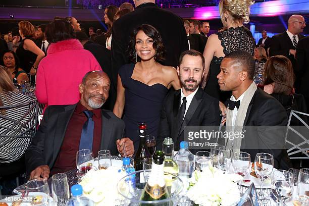 Actors Henry Sanders Rosario Dawson Giovanni Ribisi and Cuba Gooding Jr attend the 20th annual Critics' Choice Movie Awards at the Hollywood...