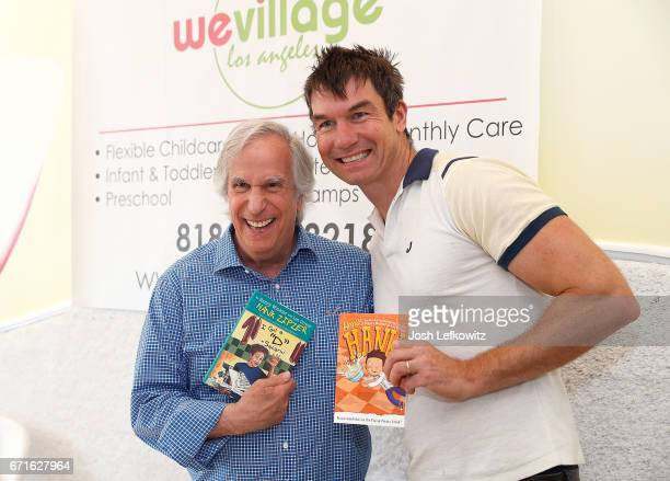 Actors Henry Winkler and Jerry O'Connell attend the Henry Winkler book signing event at WeVillage Flexible Childcare Center on April 22 2017 in...