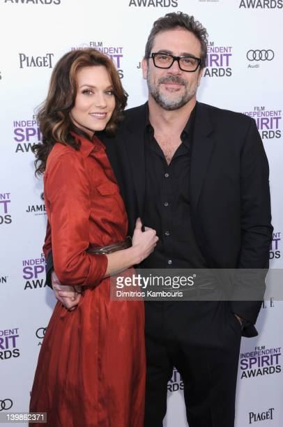 Actors Hilarie Burton and Jeffrey Dean Morgan with Jameson during the 2012 Film Independent Spirit Awards at Santa Monica Pier on February 25 2012 in...
