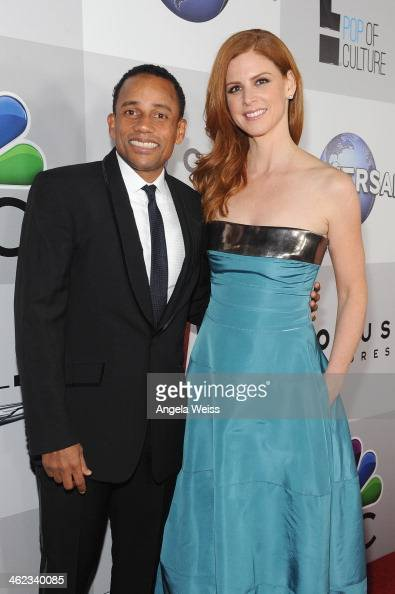 Actors Hill Harper and = Sarah Rafferty attends the Universal NBC Focus Features E sponsored by Chrysler viewing and after party with Gold Meets...