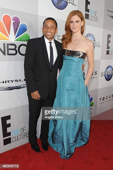 Actors Hill Harper and Sarah Rafferty attends the Universal NBC Focus Features E sponsored by Chrysler viewing and after party with Gold Meets Golden...