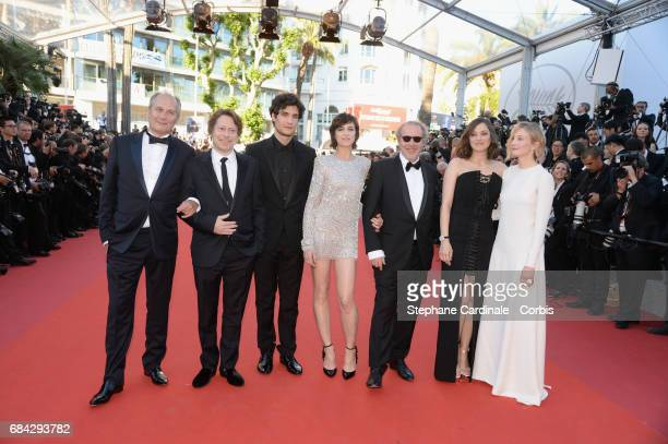 Actors Hippolyte Girardot Mathieu Amalric Louis Garrel Charlotte Gainsbourg director Arnaud Desplechin and actors Marion Cotillard and Alba...