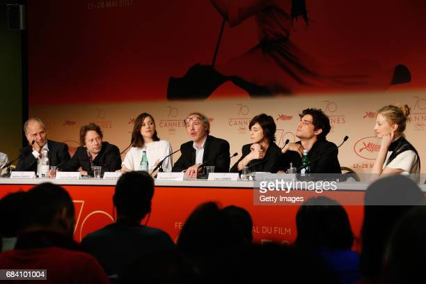 Actors Hippolyte Girardot Mathieu Amalric Marion Cotillard director Arnaud Desplechin actors Charlotte Gainsbourg Louis Garre and Alba Rohrwacher...
