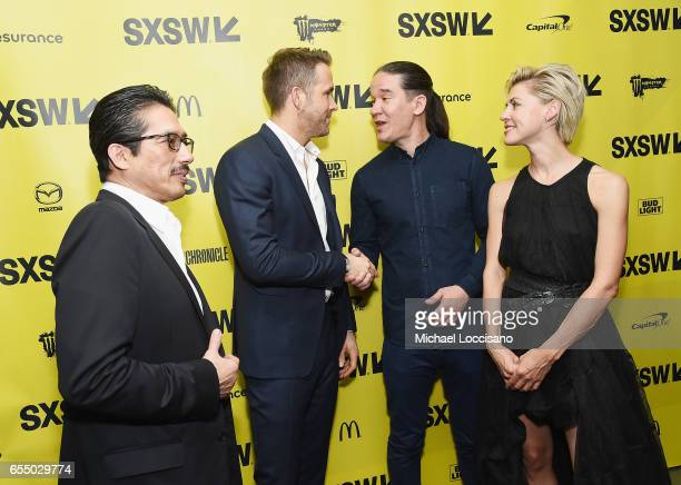 Actors Hiroyuki Sanada and Ryan Reynolds Director Daniel Espinosa and actress Olga Dihovichnaya attend the 'Life' premiere during 2017 SXSW...