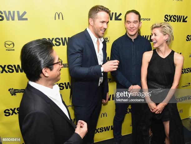 Actors Hiroyuki Sanada and Ryan Reynolds Director Daniel Espinosa and actress Olga Dihovichnaya attend the 'Life' premiere during 2017 SXSW...