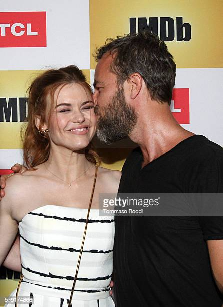 Actors Holland Roden and JR Bourne attend the IMDb Yacht Party Presented By TCL at on July 22 2016 in San Diego California