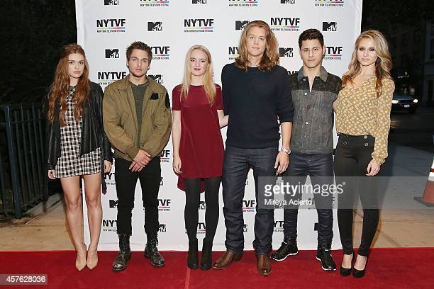 Actors Holland Roden Dylan Sprayberry Anna JacobyHeron Alex Saxon Michael Willett and Rita Volk attend Teenage Wasteland Navigating High School With...